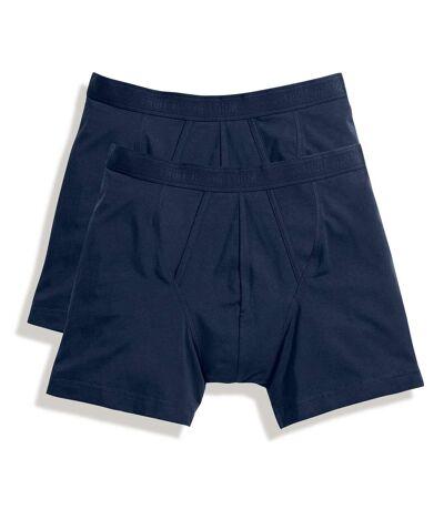 Fruit Of The Loom Mens Classic Boxer Shorts (Pack Of 2) (White) - UTRW3156