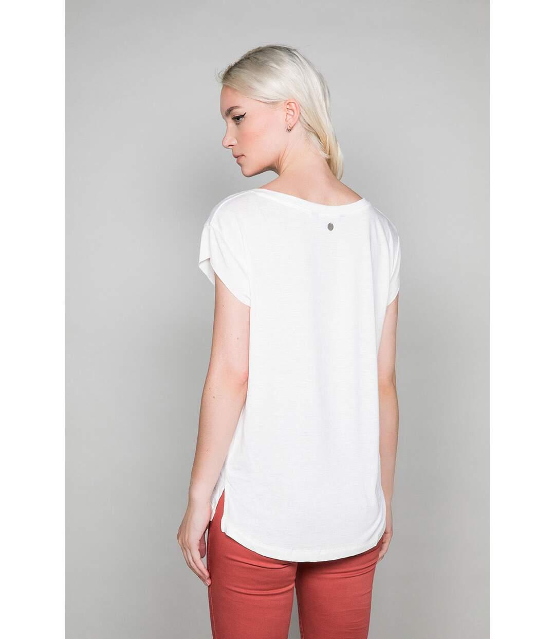 T-shirt fluide à manches courtes SWEET Off White