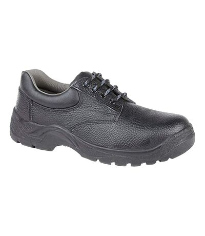 Grafters Mens Padded Collar 4 Eye Safety Shoes (Black) - UTDF1243