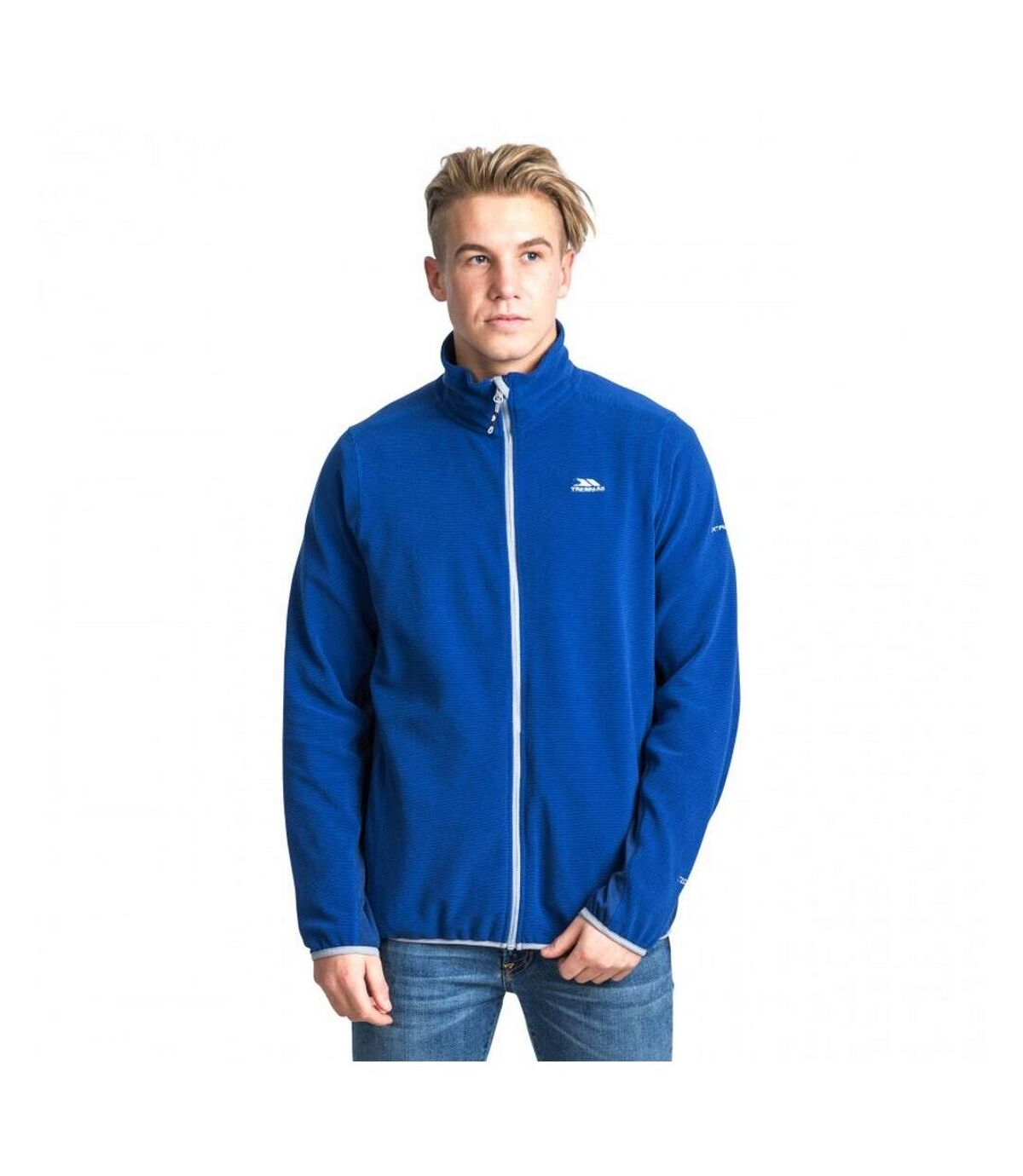 Trespass - Polaire zippée MIRTH - Homme (Bleu roi côtelé) - UTTP4146