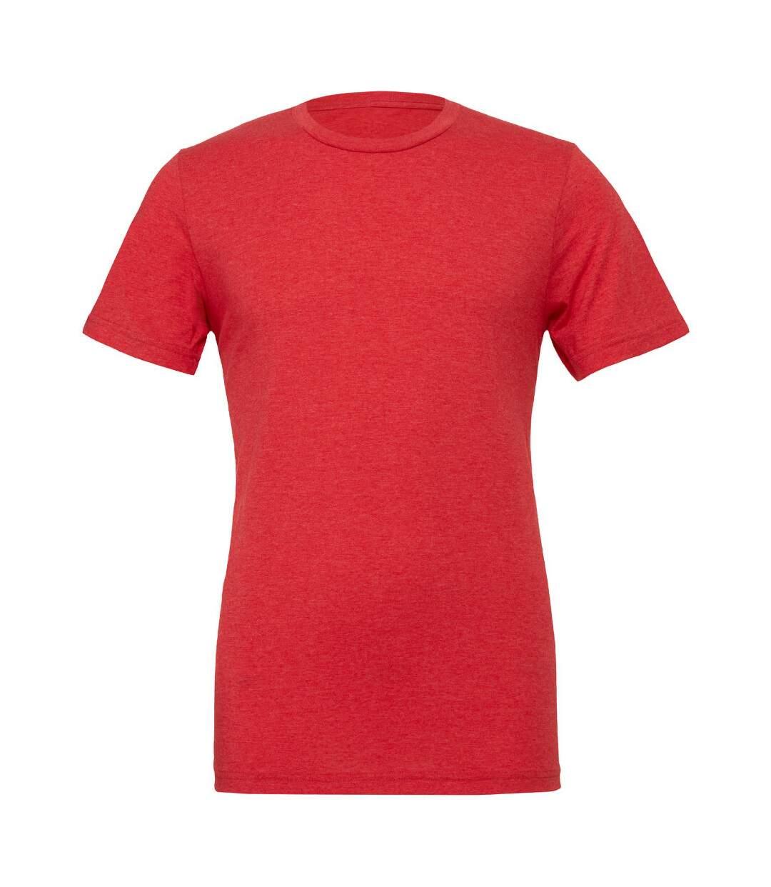 Canvas Mens Triblend Crew Neck Plain Short Sleeve T-Shirt (Red Triblend) - UTBC2596