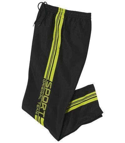Men's Black Microfibre Sweatpants