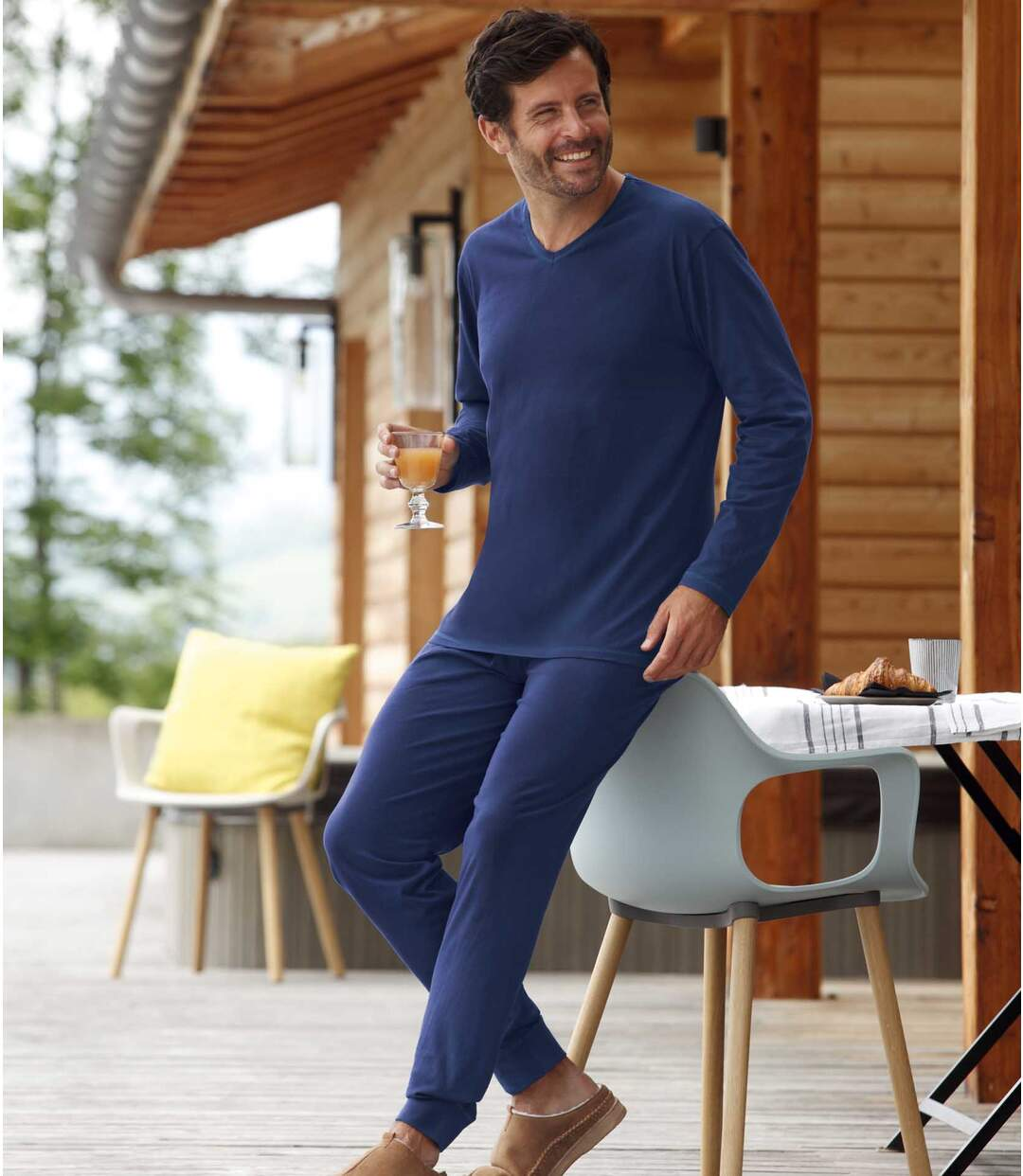 Men's Blue Thermal Base Layers