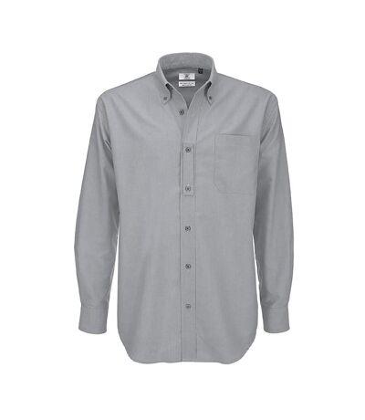 B&C Mens Oxford Long Sleeve Shirt / Mens Shirts (Silver Moon) - UTBC105