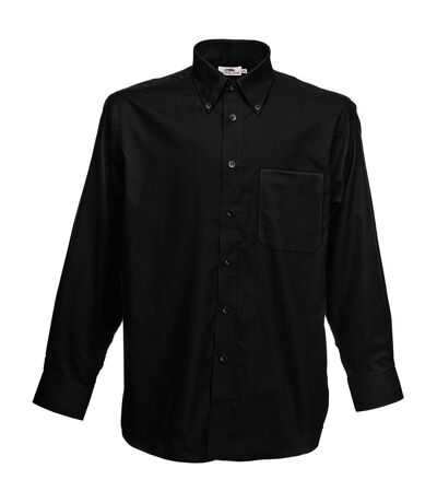 Fruit Of The Loom Mens Long Sleeve Oxford Shirt (White) - UTBC403