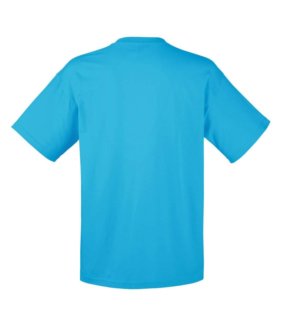 Fruit Of The Loom Mens Valueweight Short Sleeve T-Shirt (Azure Blue) - UTBC330