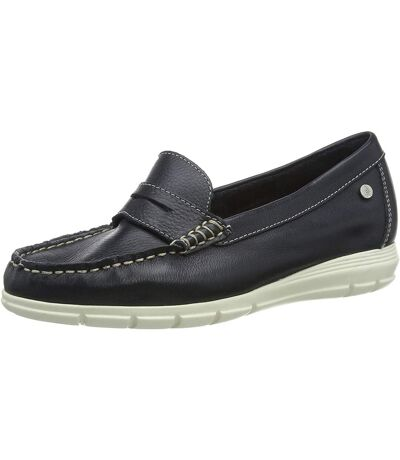 Hush Puppies Womens/Ladies Paige Leather Loafer (Navy) - UTFS7064