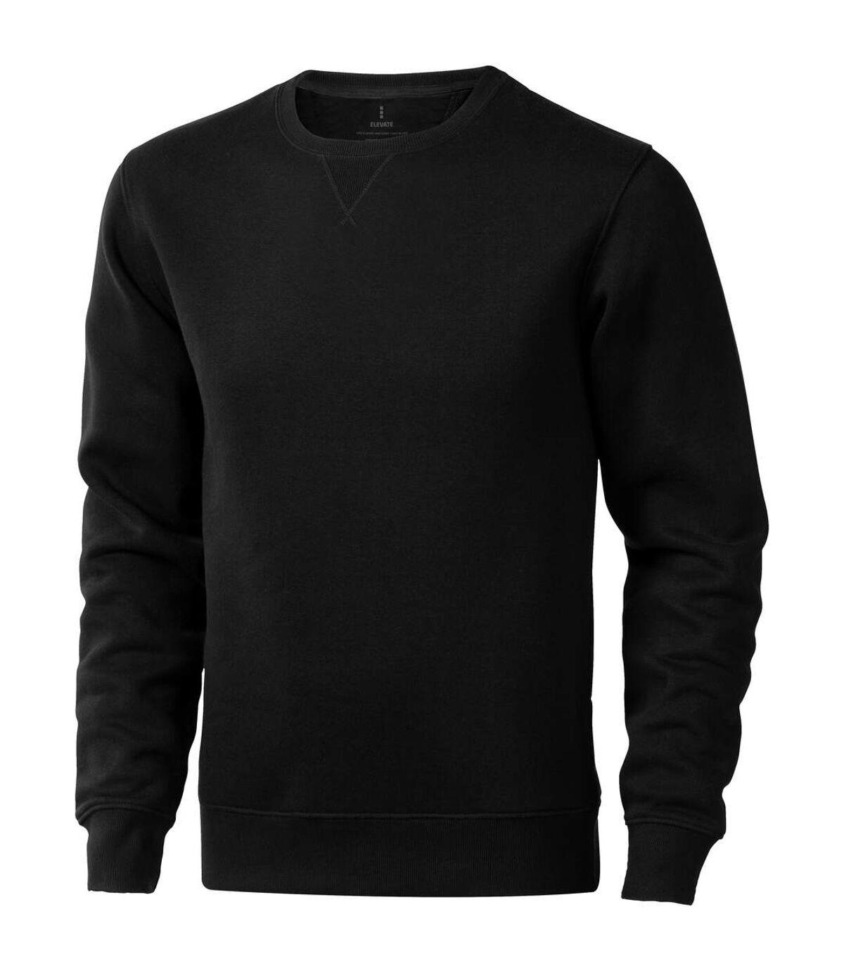Elevate Mens Surrey Crew Neck Sweater (Solid Black) - UTPF1849