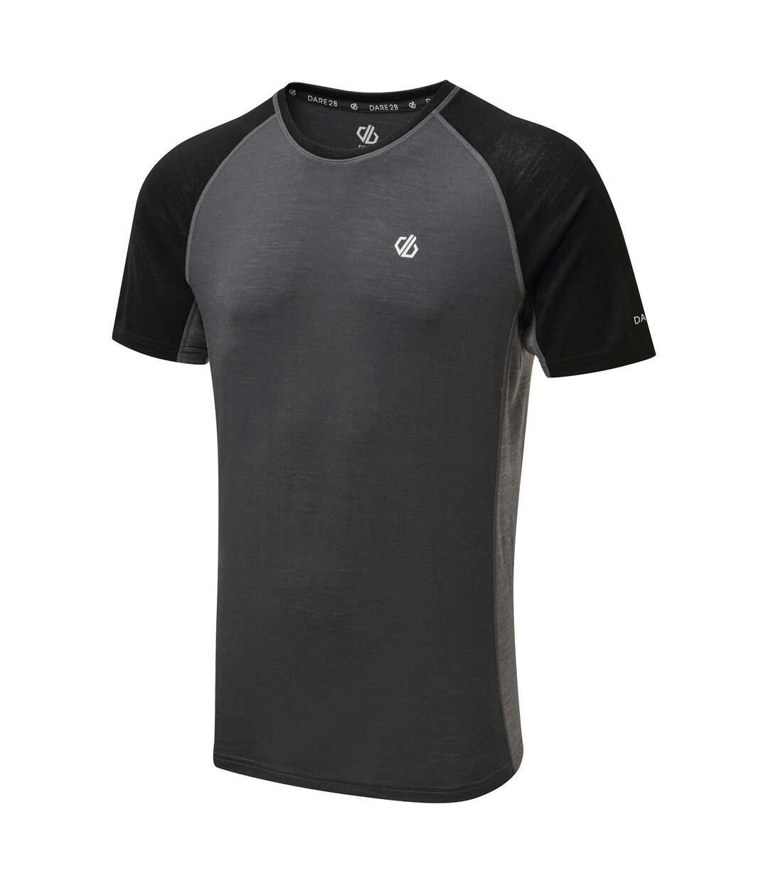Dare 2B Mens Conflux T-Shirt (Ebony/Black) - UTRG5455