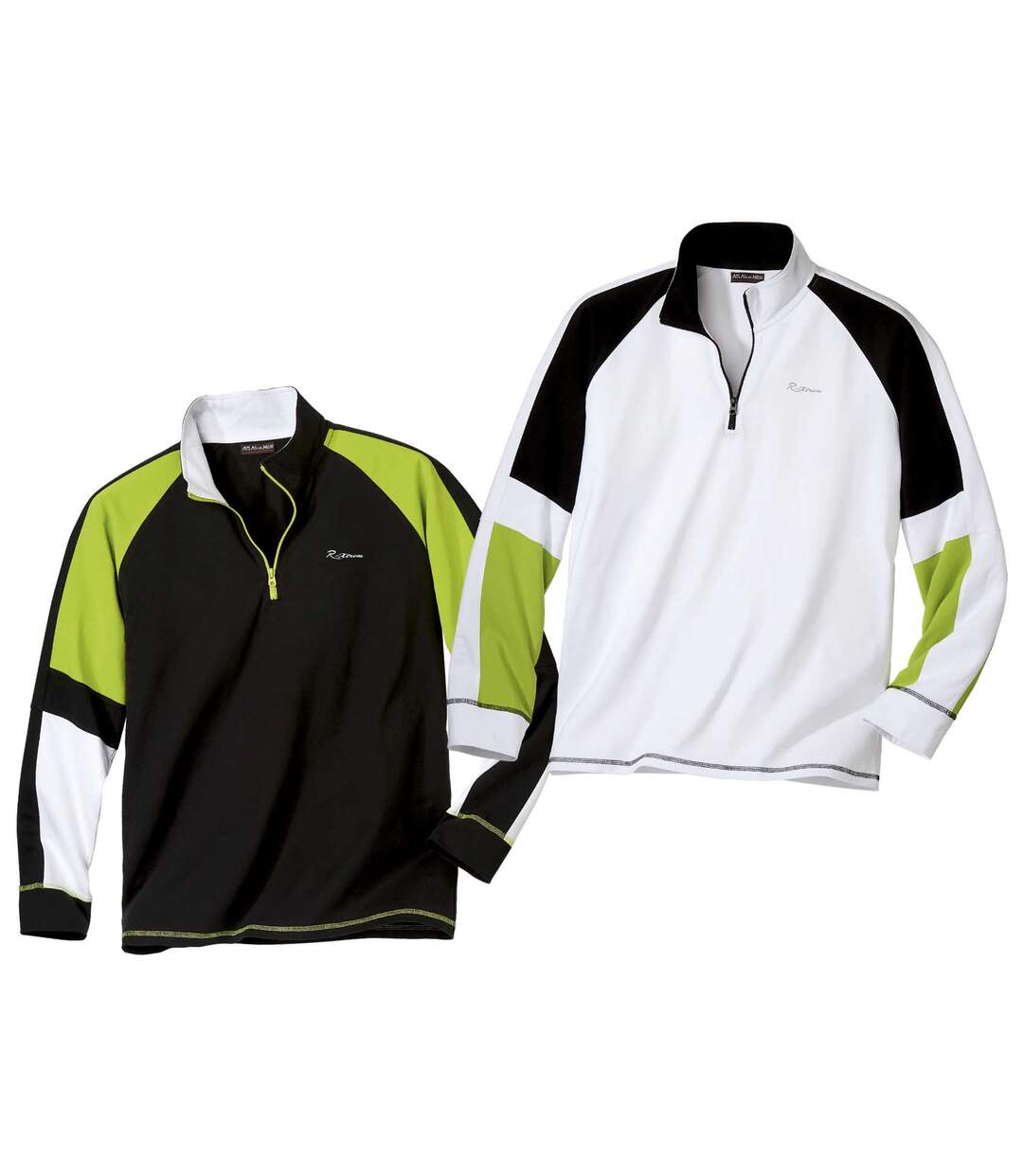 2er-Pack Poloshirts Sport mit RV-Kragen