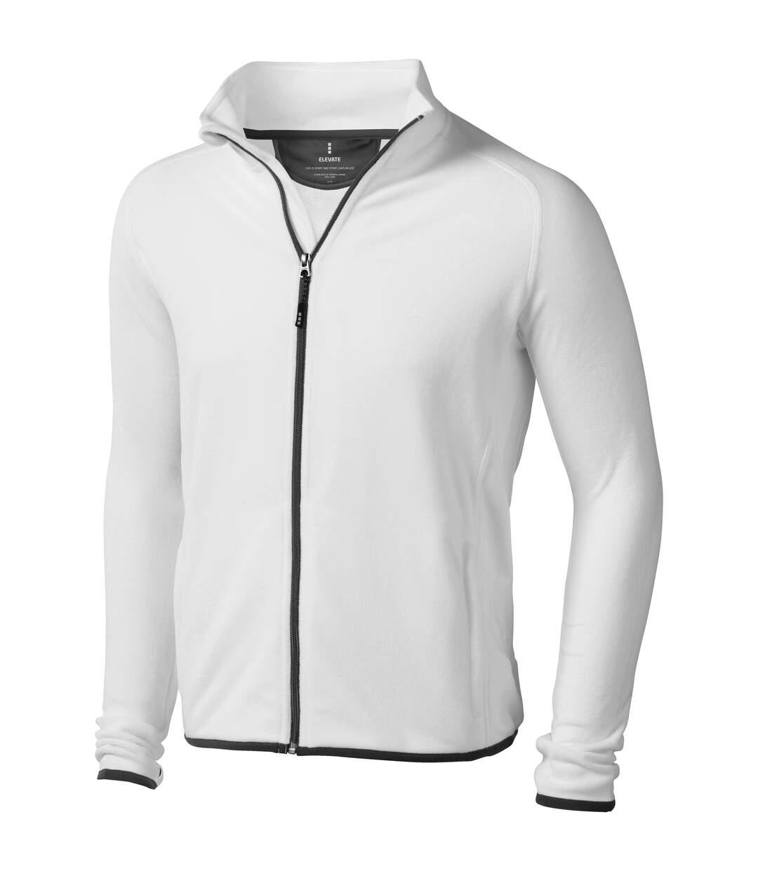 Elevate Mens Brossard Micro Fleece (White) - UTPF1944