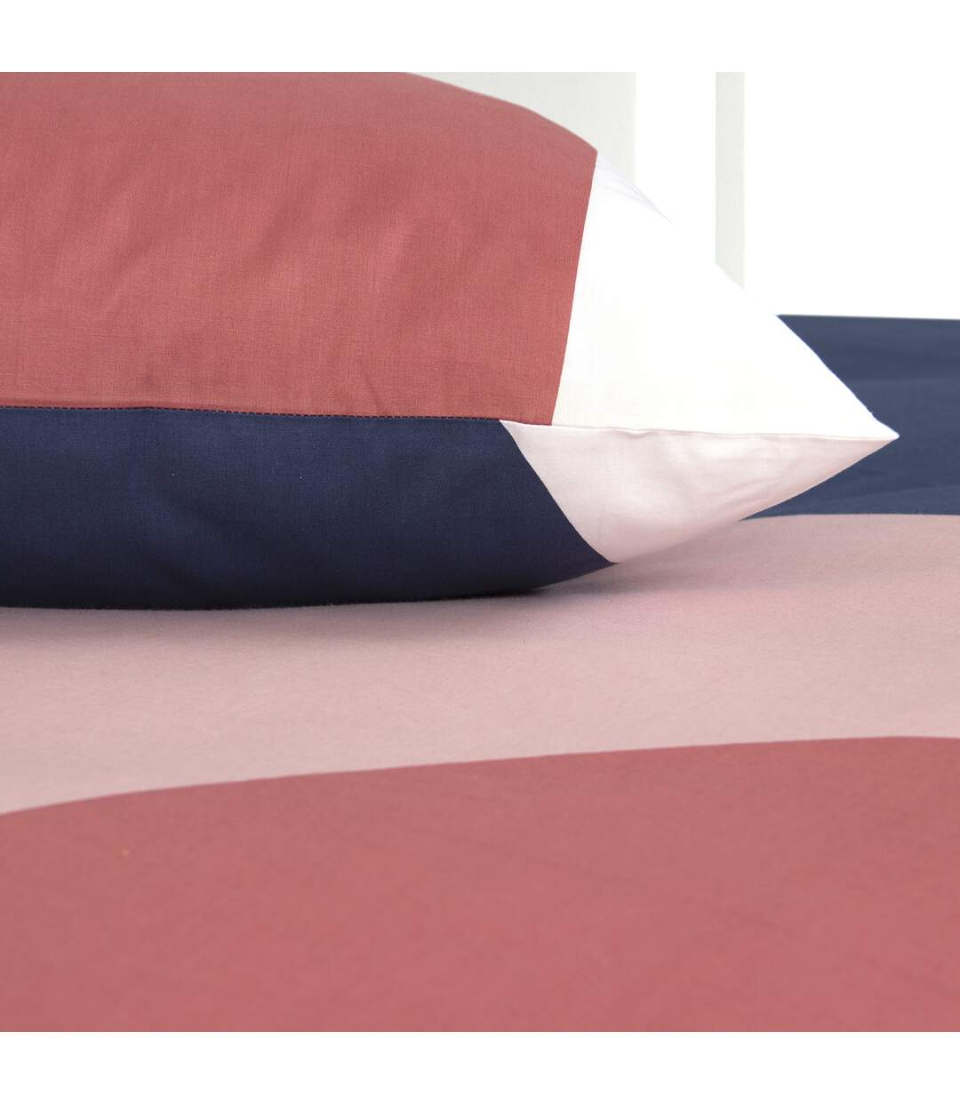 Parure de lit 240x220 cm 100% coton bio ABSTRA Multicolore 3 pièces