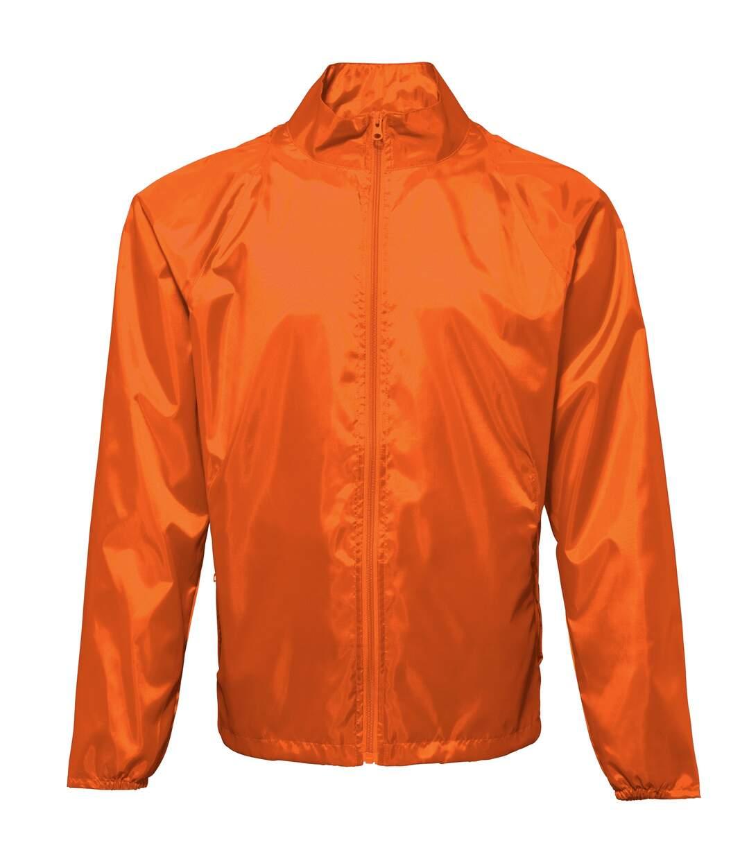 2786 Unisex Lightweight Plain Wind & Shower Resistant Jacket (Orange) - UTRW2500