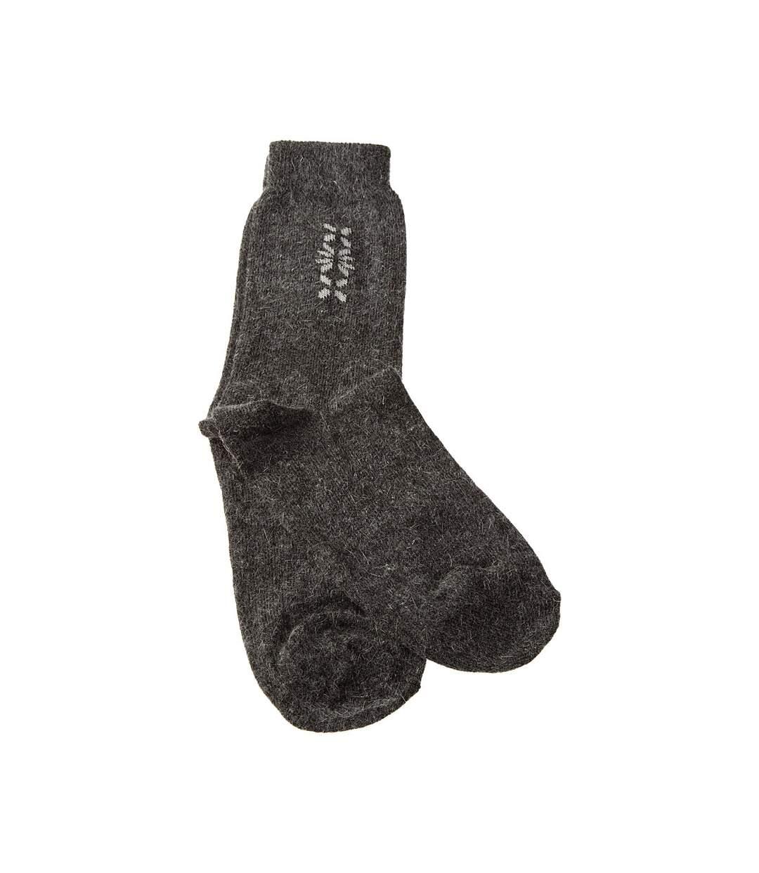 Dégagement Chaussette Mi-Hautes 1 paire Sans bouclette Chaude Viscose Gris foncé Men\'s socks dsf.d455nksdKLFHG