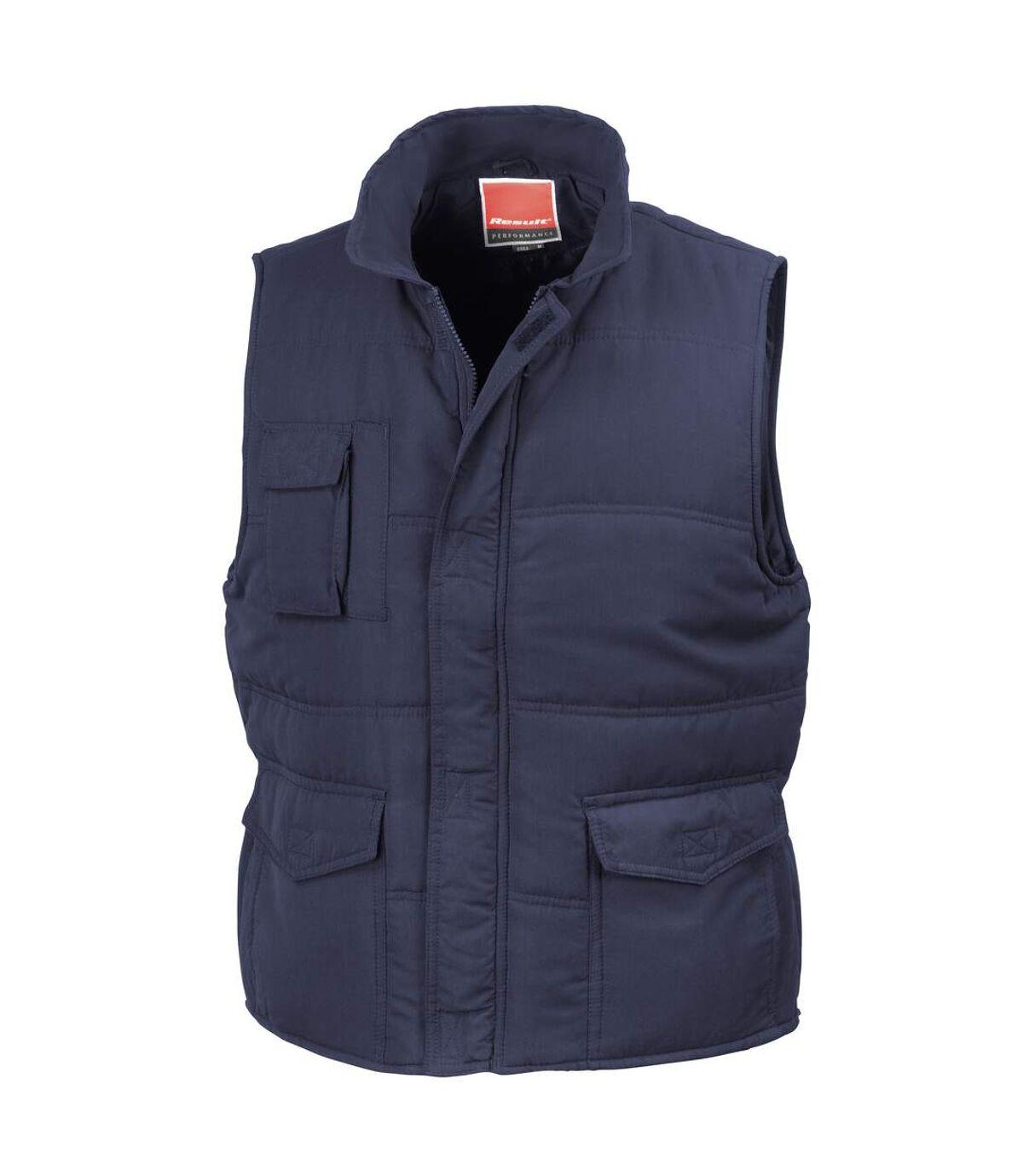 Result Mens Mid-Weight Bodywarmer Showerproof Windproof Jacket (Navy Blue) - UTBC939