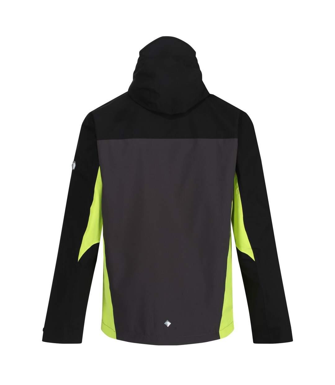 Regatta Mens Birchdale Waterproof Hooded Jacket (Ash/Black) - UTRG3474
