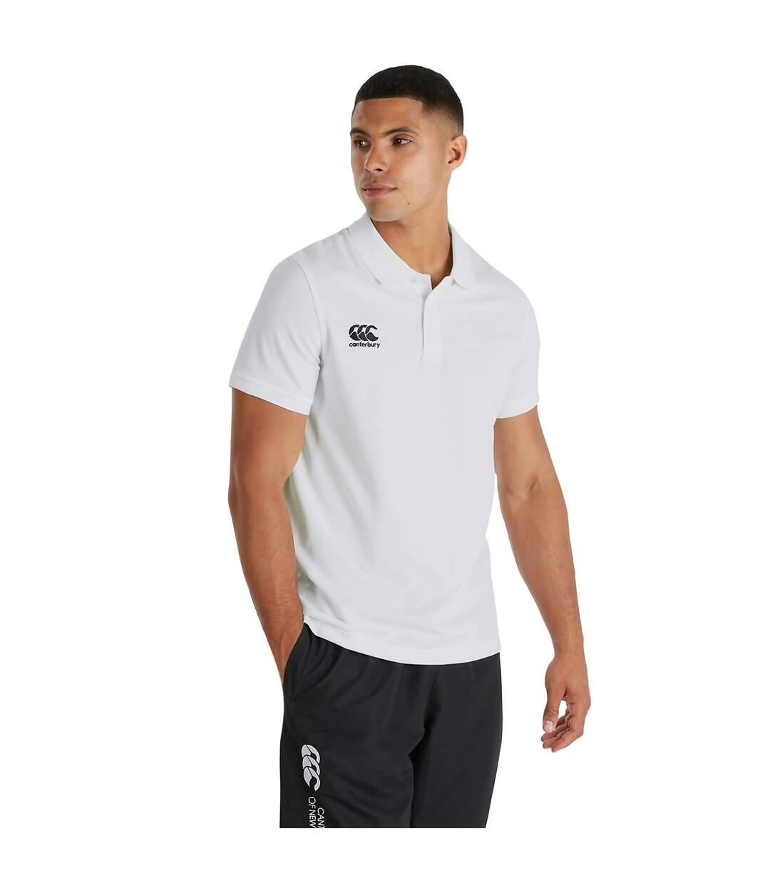 Canterbury Mens Waimak Short Sleeve Pique Polo Shirt (White) - UTPC2463