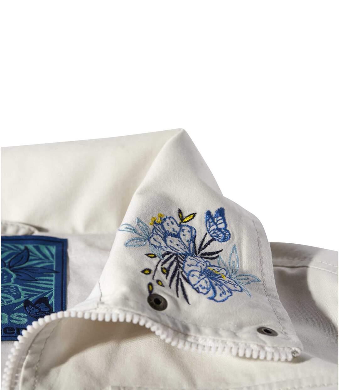 Sommerliche Safari-Jacke mit Stickereien