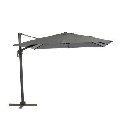 Parasol déporté carré Eléa - Inclinable - L. 300 x l. 300 cm - Gris anthracite