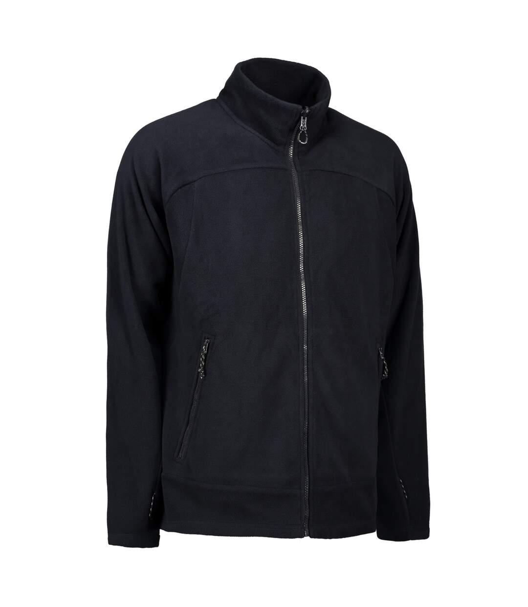 ID Mens Zip N Mix Active Fleece Jacket (Bordeaux) - UTID425