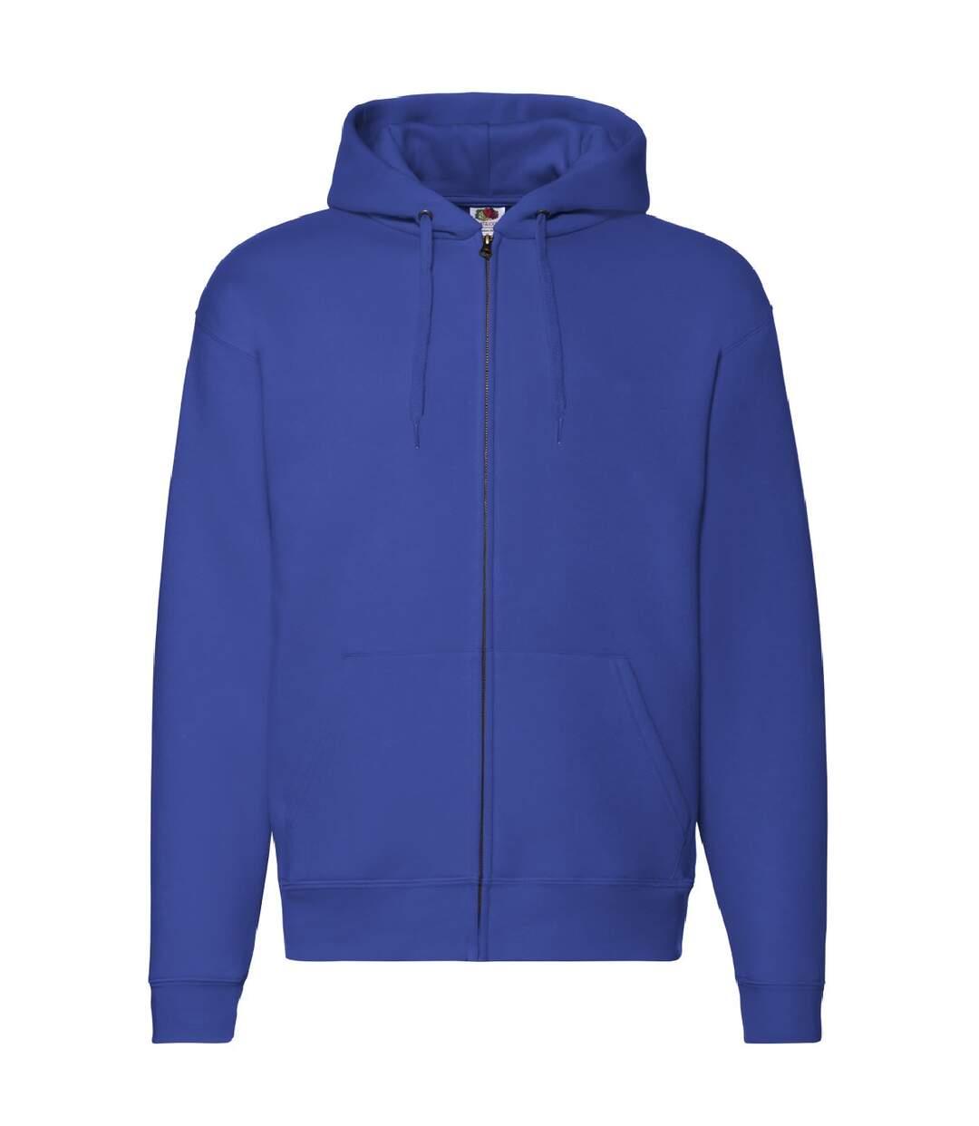 Fruit Of The Loom Mens Zip Through Hooded Sweatshirt / Hoodie (Royal) - UTBC360