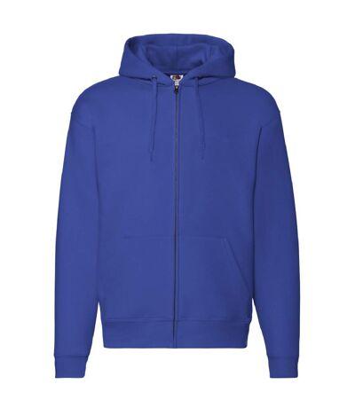 Fruit Of The Loom - Sweatshirt à capuche et fermeture zippée - Homme (Bleu royal) - UTBC360