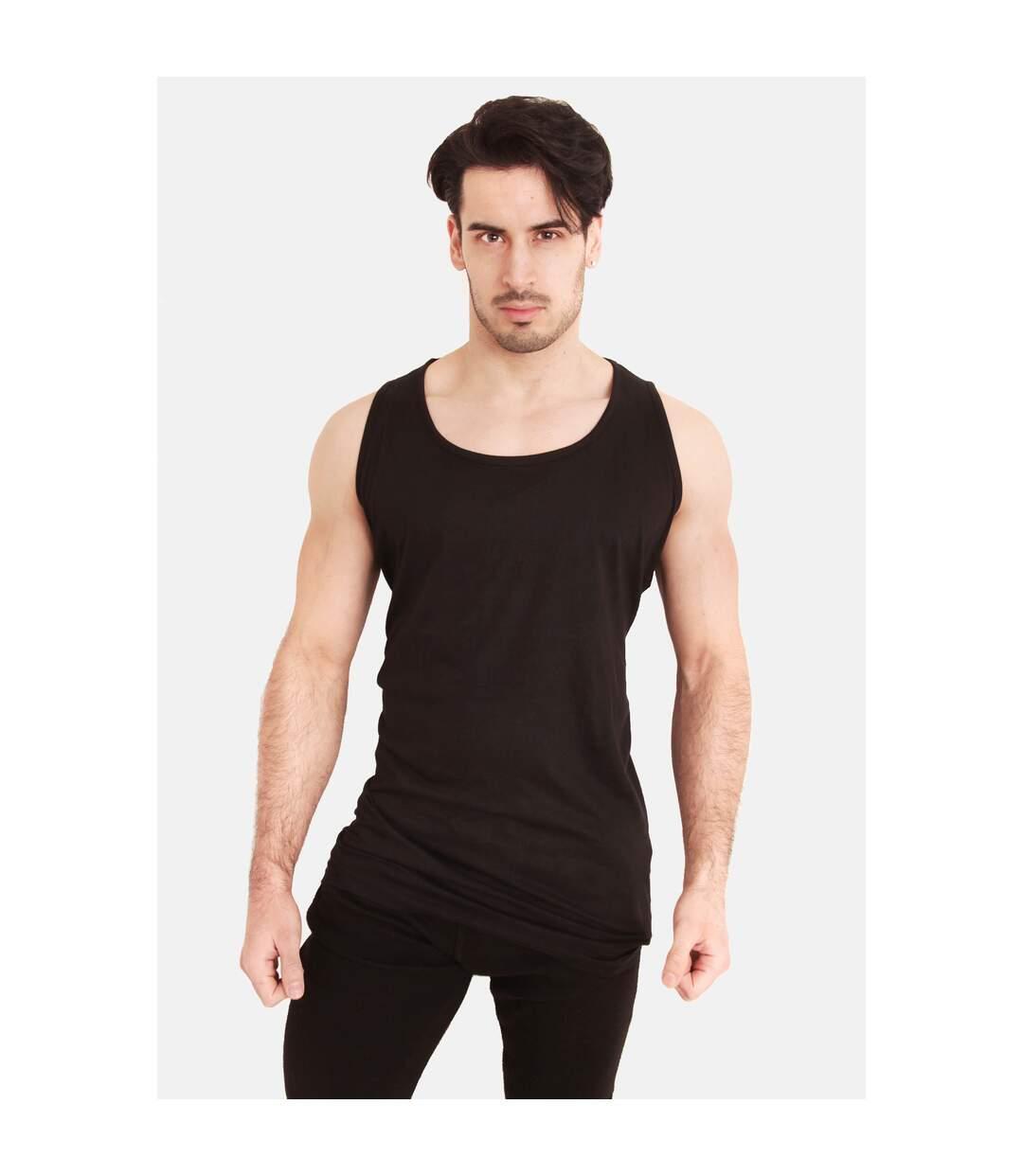 Duke Mens Fabio-1 Kingsize Muscle Vest (Black) - UTDC171
