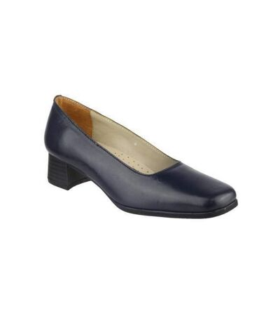 Amblers Walford Ladies Leather Court / Womens Shoes (Navy) - UTFS218