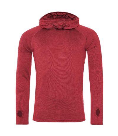 AWDis Just Cool Mens Cowl Neck Long Sleeve Baselayer Top (Pack of 2) (Red Melange) - UTRW6952