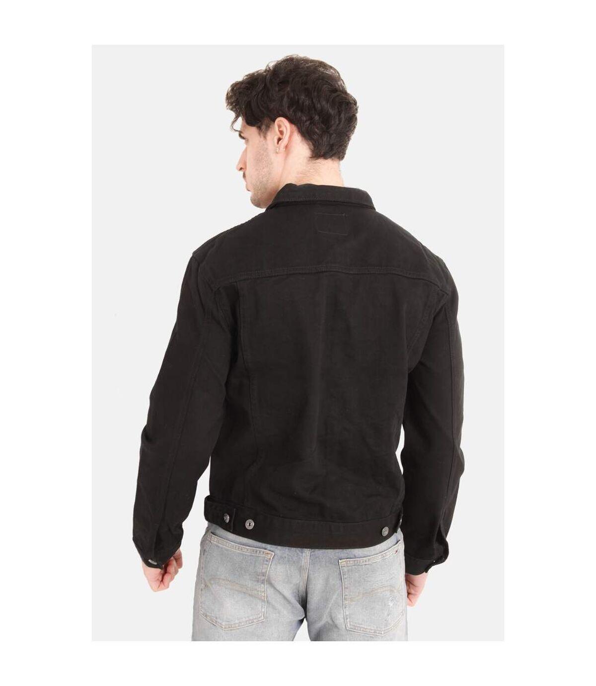 Duke Mens Kingsize Western Trucker Style Denim Jacket (Black) - UTDC127