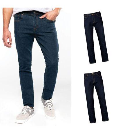 Lot 2 pantalons - jean pour homme - K742 - bleu