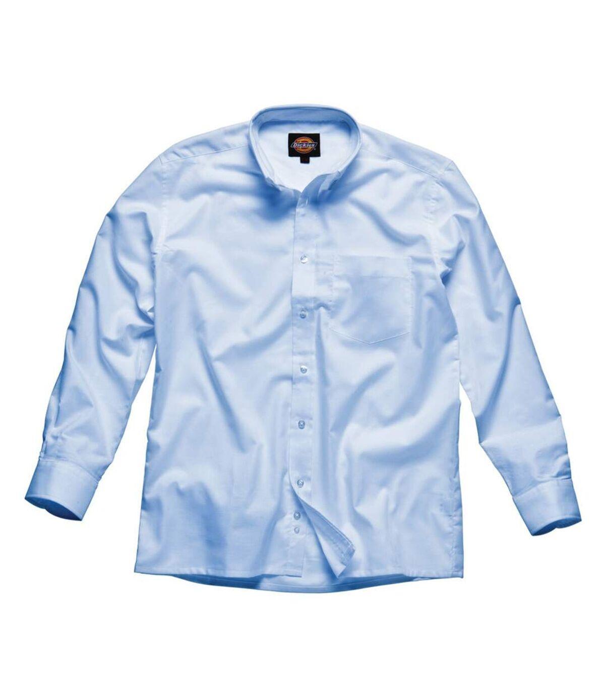 Dickies Long Sleeve Cotton/Polyester Oxford Shirt / Mens Shirts (Light Blue) - UTBC296