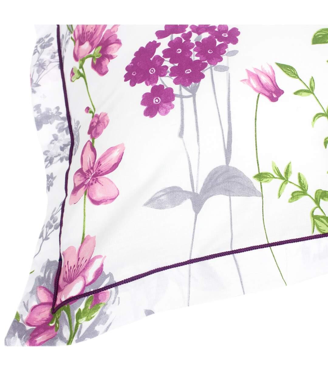 Parure de lit 240x220 cm 100% coton PRETTY blanc 3 pièces