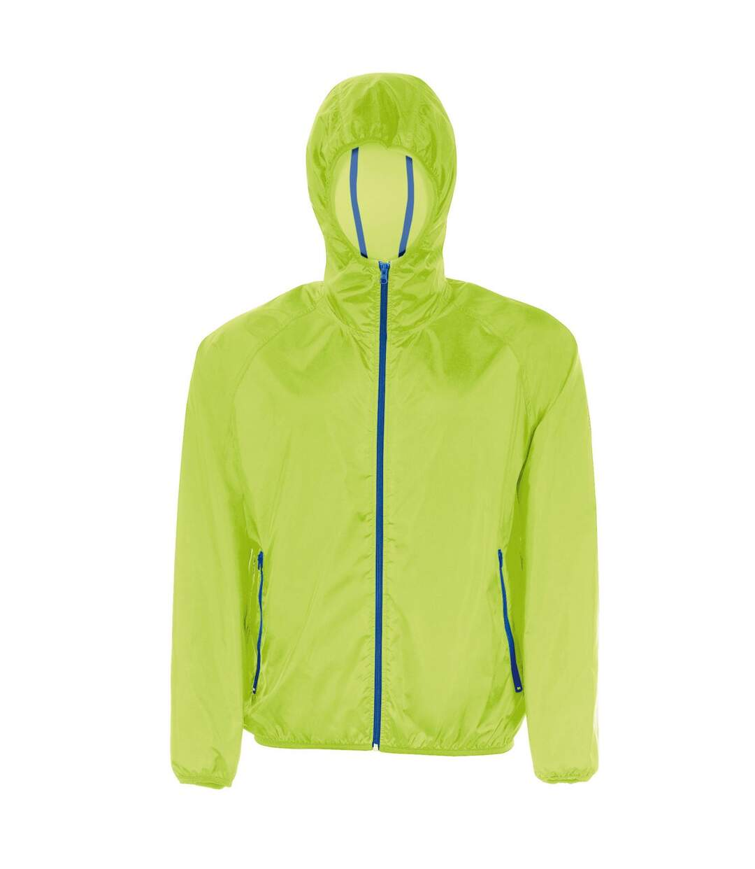 SOLS Unisex Shore Water Resistant Packaway Windbreaker Jacket (Neon Green) - UTPC2154