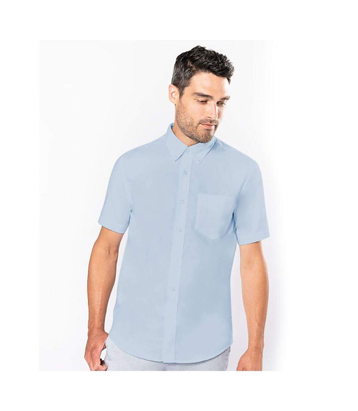 Kariban Mens Short Sleeve Easy Care Oxford Shirt (Oxford Blue) - UTRW721