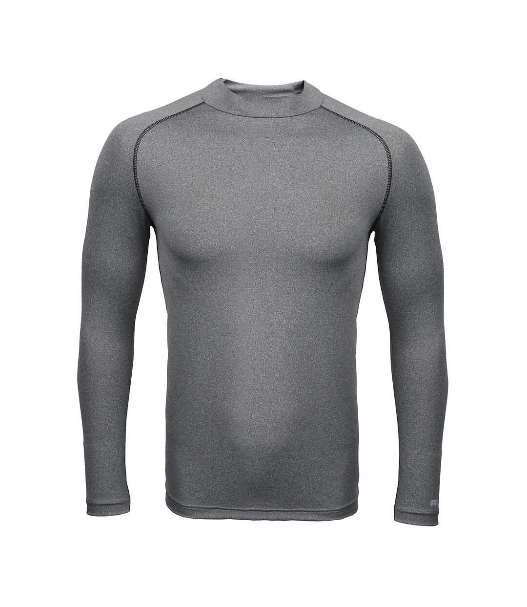 Rhino Mens Thermal Underwear Long Sleeve Base Layer Vest Top (Heather Grey) - UTRW1276
