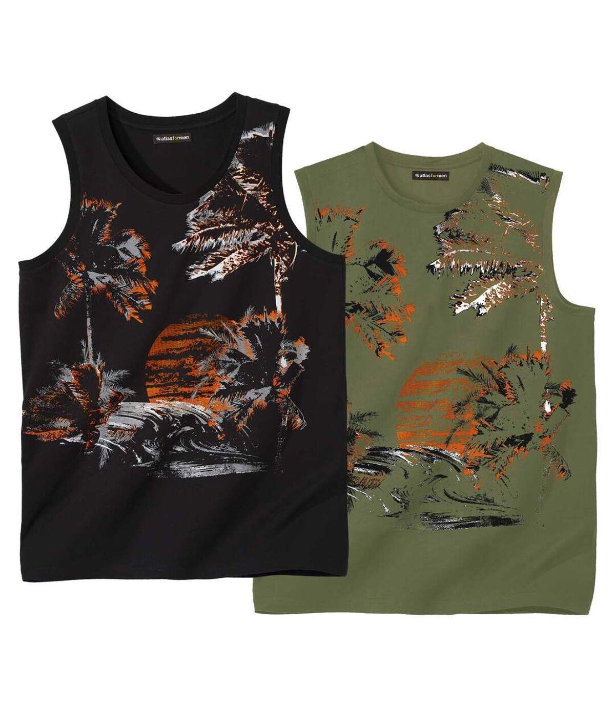 Set van 2 mouwloze Sunset T-shirts Atlas For Men