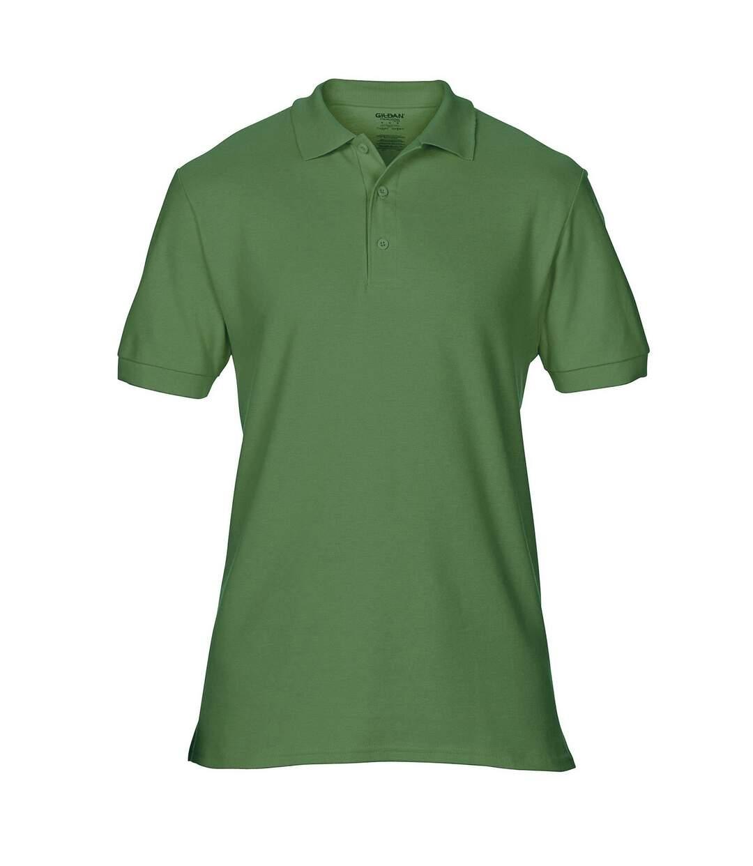 Gildan Mens Premium Cotton Sport Double Pique Polo Shirt (Graphite Heather) - UTBC3194