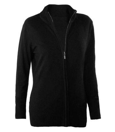 Gilet zippé cardigan K962 - femme - noir