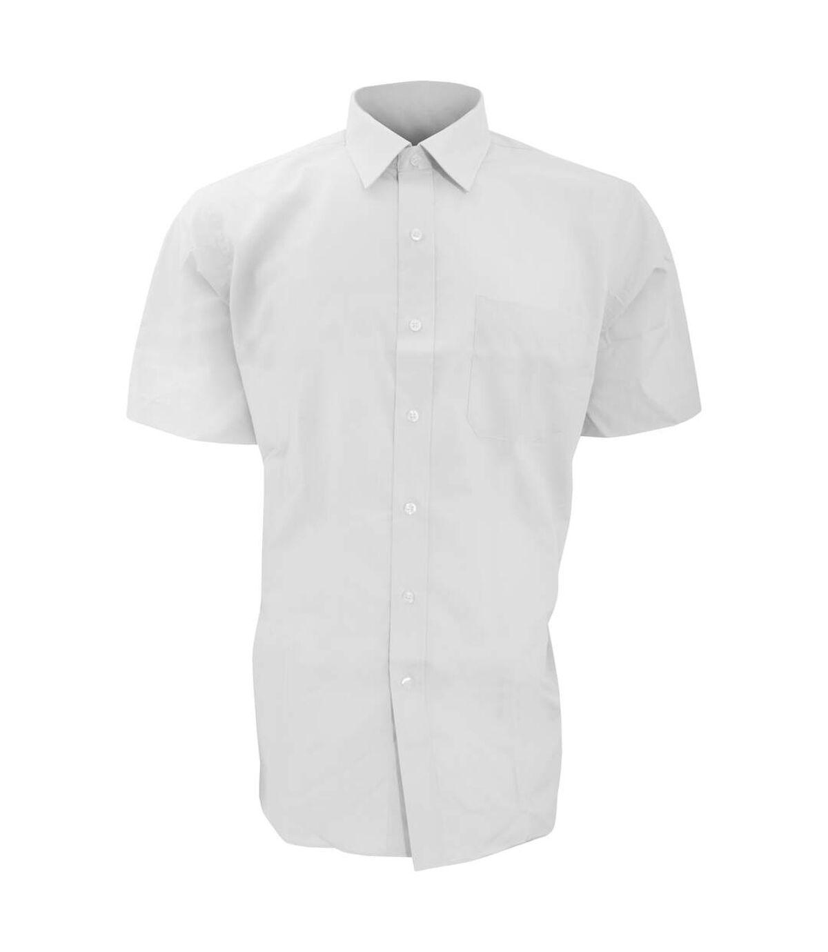 Brook Taverner Mens Rosello Short Sleeve Shirt (White) - UTRW299