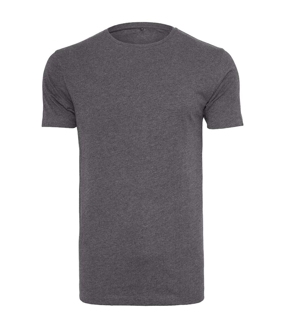 Build Your Brand Mens Light Round Neck Short Sleeve T-Shirt (Charcoal) - UTRW5684