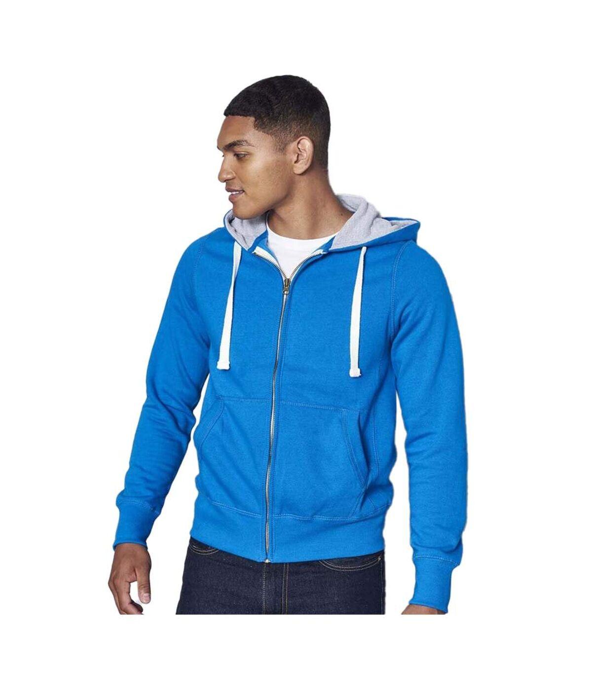 Awdis Chunky Premium Heavyweight Hooded Sweatshirt / Hoodie / Zoodie (French Navy (Grey Inner)) - UTRW181