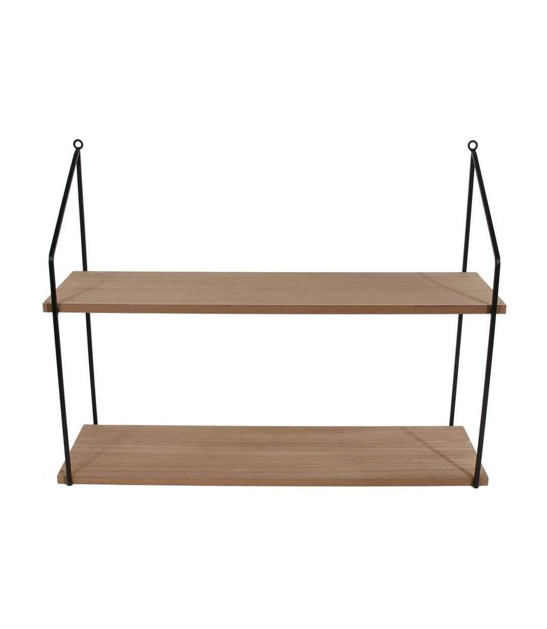 Etagère échelle plateaux en bois Home 2 plateaux