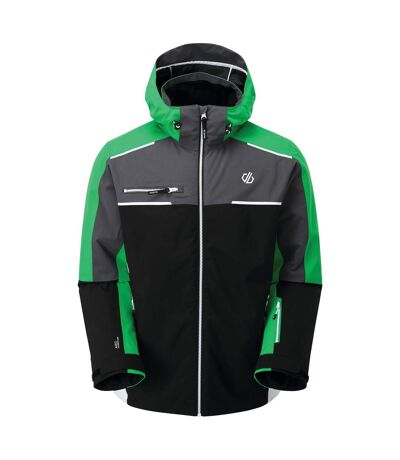 Dare 2B Mens Intermit II Waterproof Ski Jacket (Black/Vivid Green) (XXL) - UTRG5514
