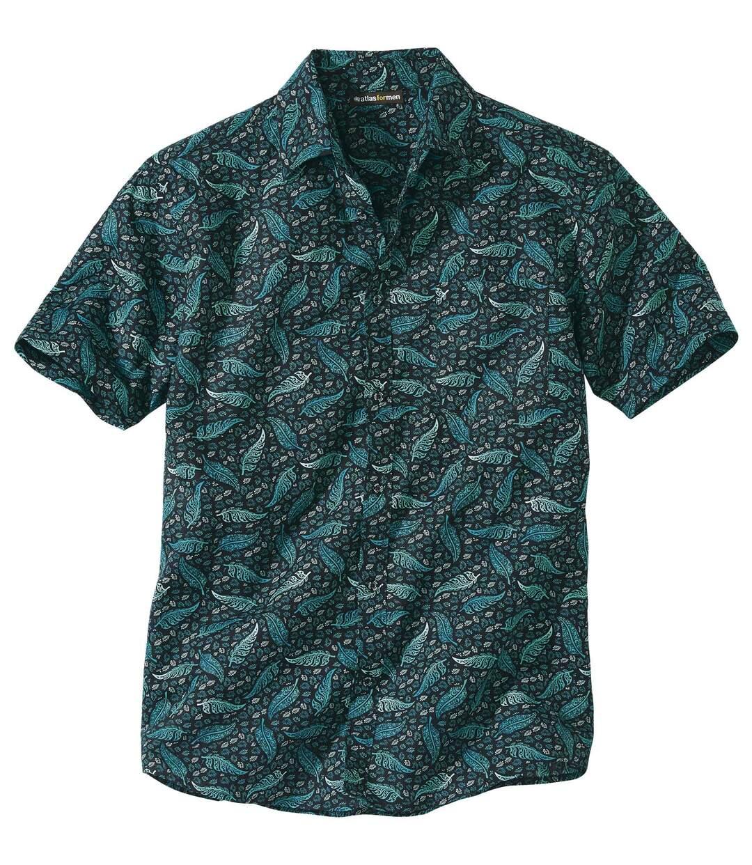 Hemd mit exotischem Druckmuster