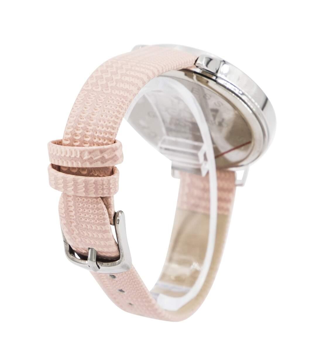 Dégagement Montre Femme GIORGIO bracelet Cuir Rose dsf.d455nksdKLFHG