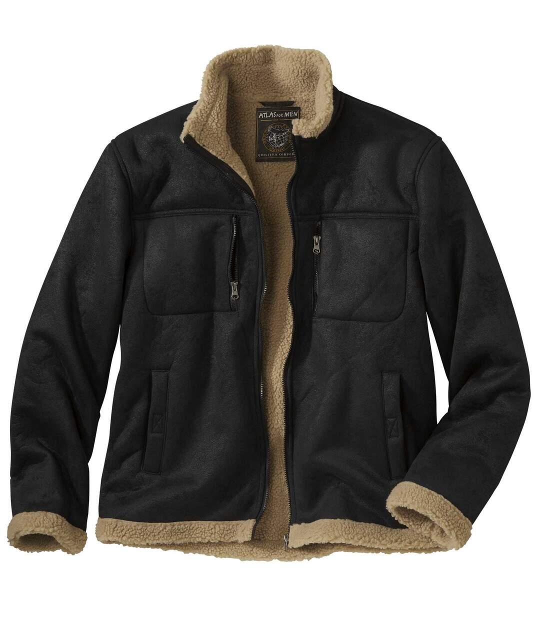 Замшевая Куртка с Подкладкой из Шерпы