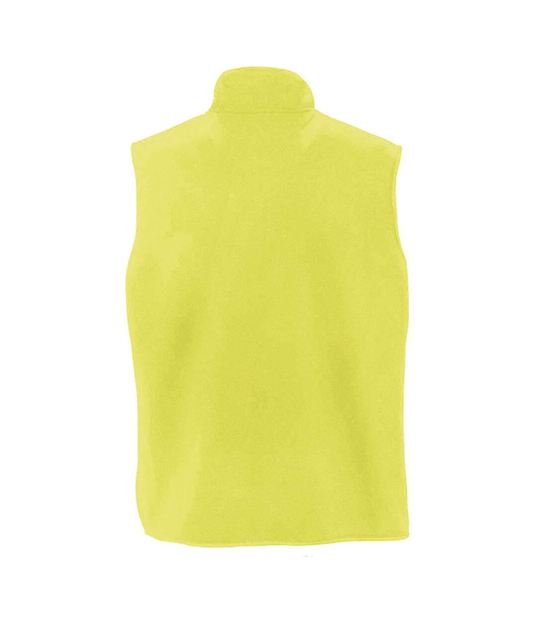 SOLS Norway Unisex Anti-Pill Fleece Bodywarmer / Gilet (Neon Yellow) - UTPC346