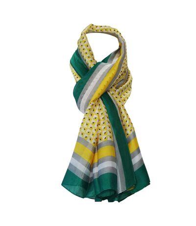 Grand foulard soie géométrique