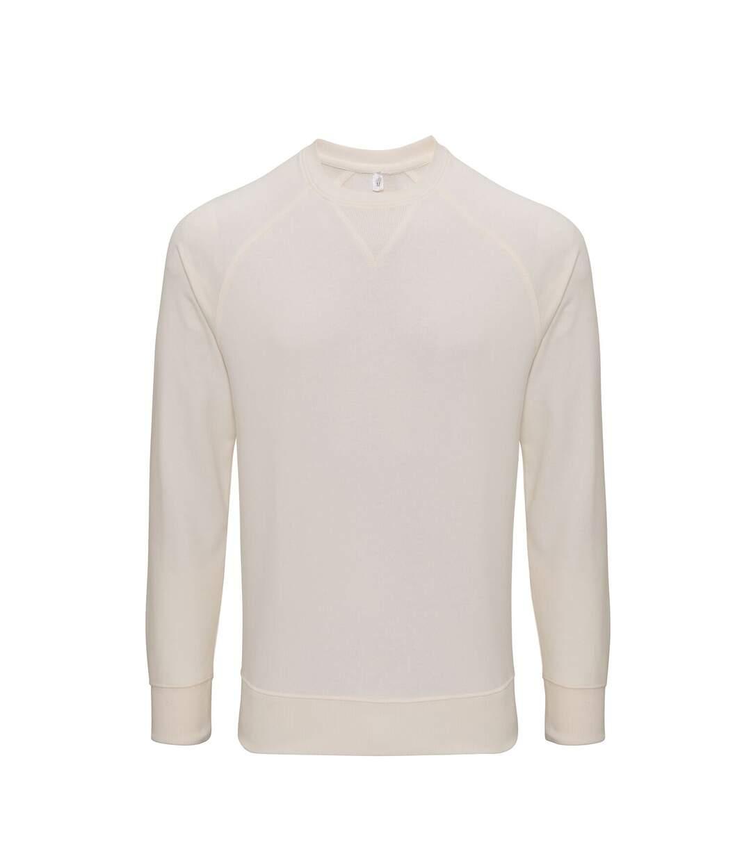 Asquith & Fox Mens Coastal Vintage Wash Loop Back Sweatshirt (Vintage White) - UTRW6240